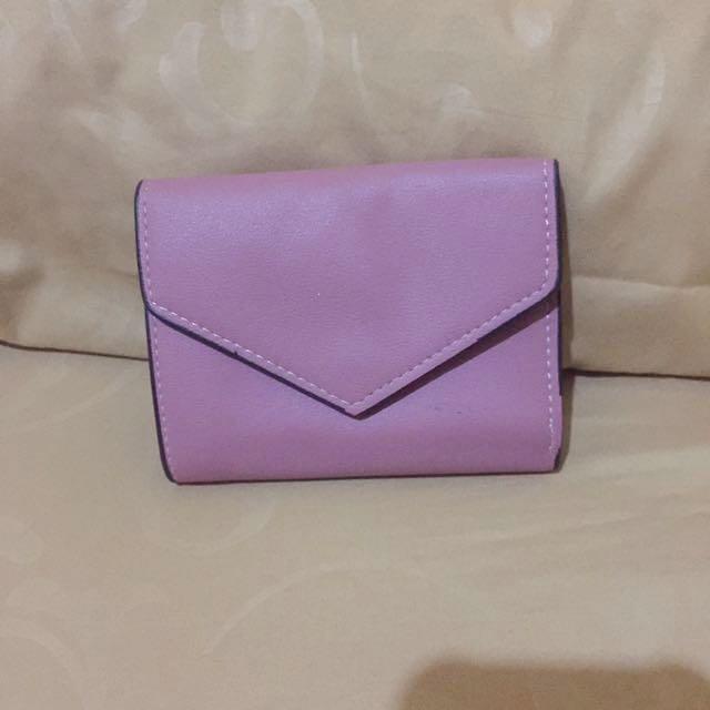 dompet mini lucu warna nude