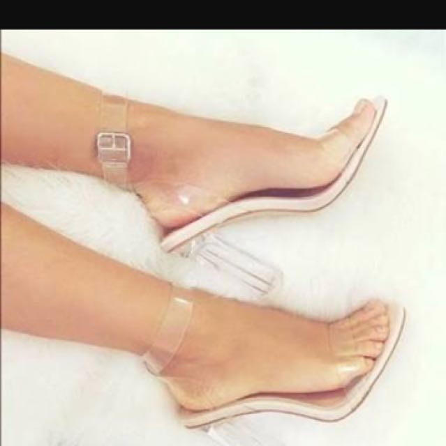 Ego Official Perspex Heels Size 8