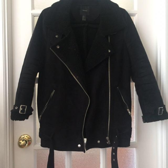 F21 Black Moto Jacket (small)