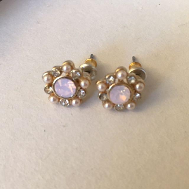 F21 Pink Stud Earrings