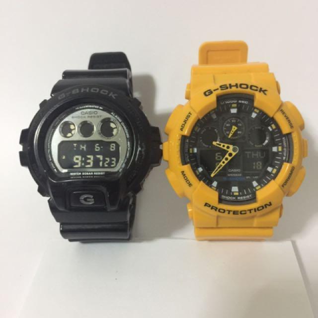 Gshock For Sale As Pack: Preloved GA100(Y) & DW6900(B) G-Shock