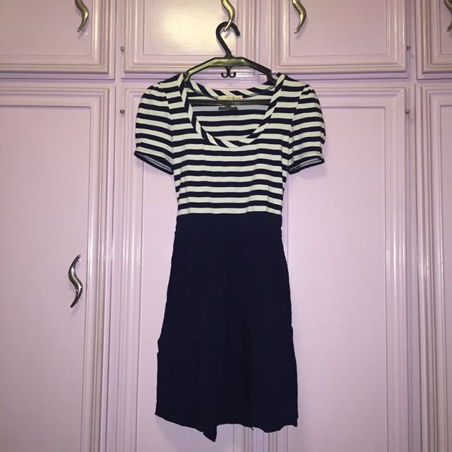 Forever 21 Blue Striped Dress