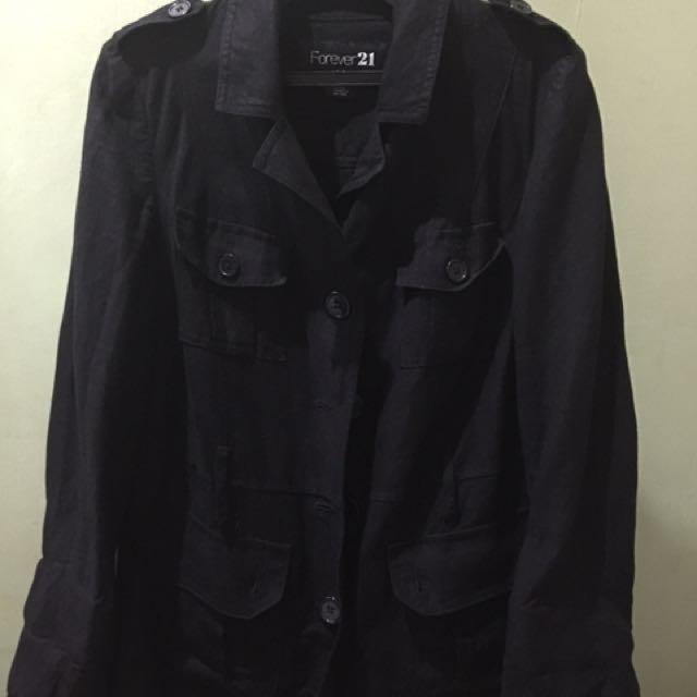 Forever 21 Jacket/ Coat (black)