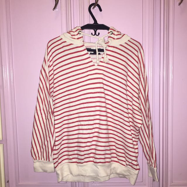 Forever 21 Striped Hoodie