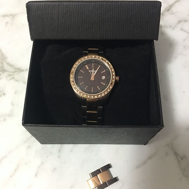 Fossil Brown And Bronze Watch
