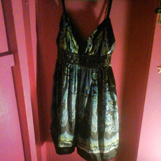 Green Floral Dress