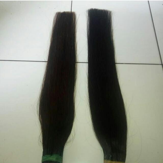 hair extension 100% rambut asli