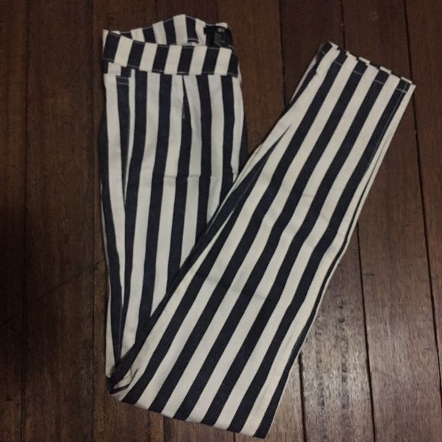 H&M Stripped Skinny Pants