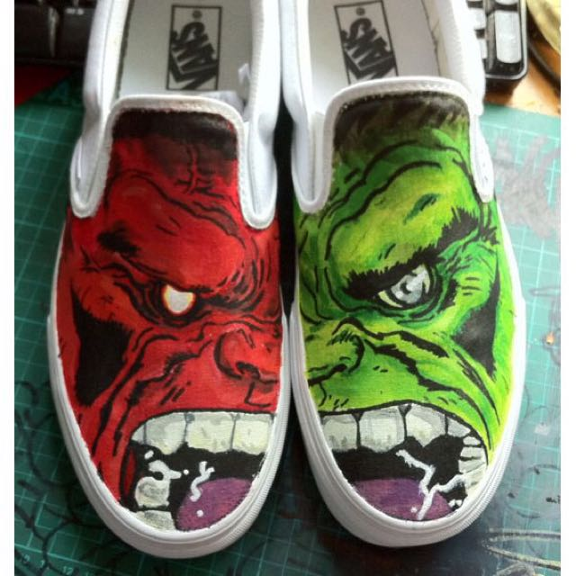 Hulk Hand Painted Shoes