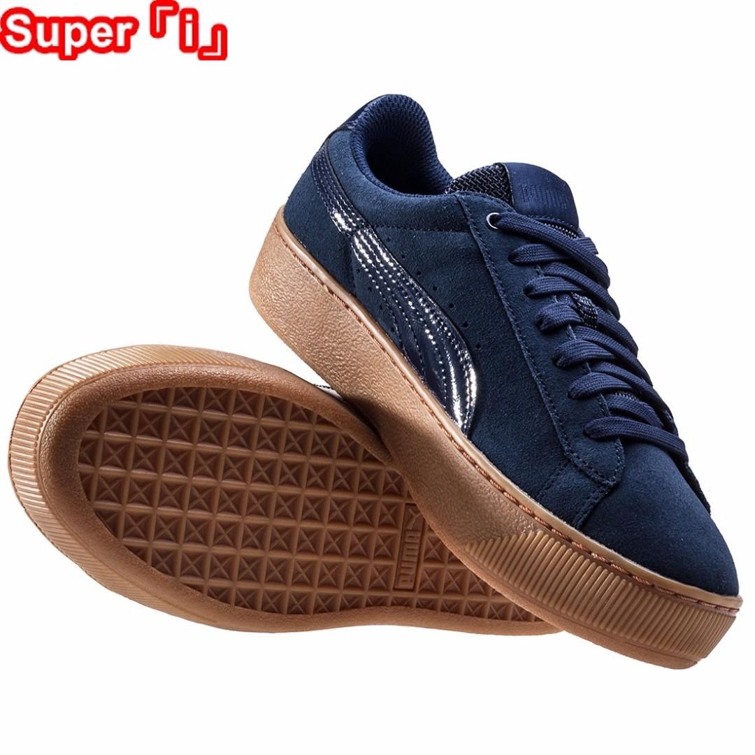「i」【預購】Puma Vikky Platform 藍色 休閒 運動鞋 美日當紅款