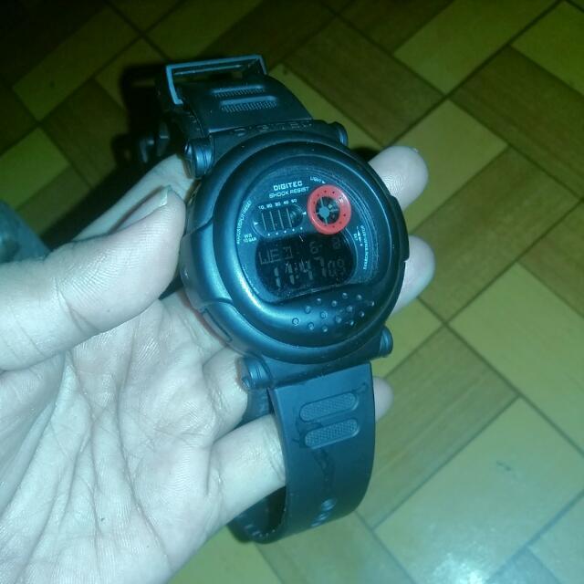 Jam Tangan Pria DIGITEC 2101T Water Resistant - BLACK