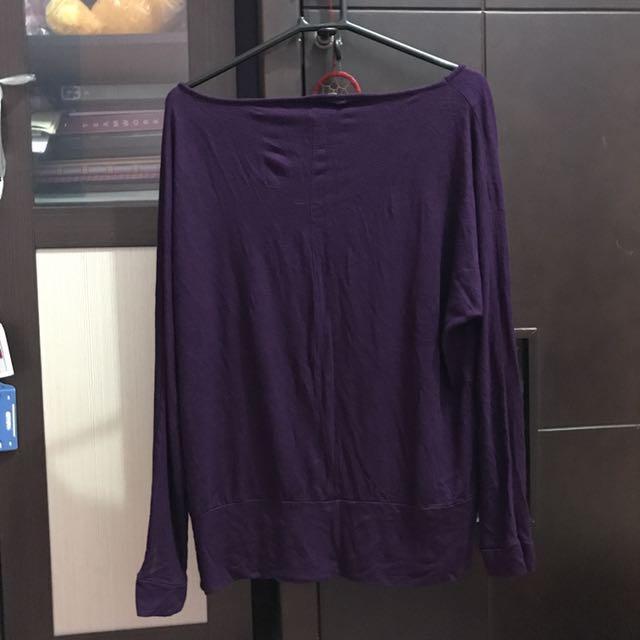 Kaus Hijab Ungu