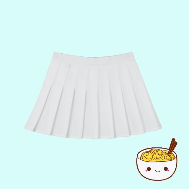 korean white tennis skirt
