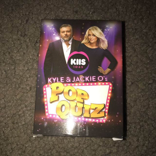 Kyle And Jackie O's Pop Quiz Cards