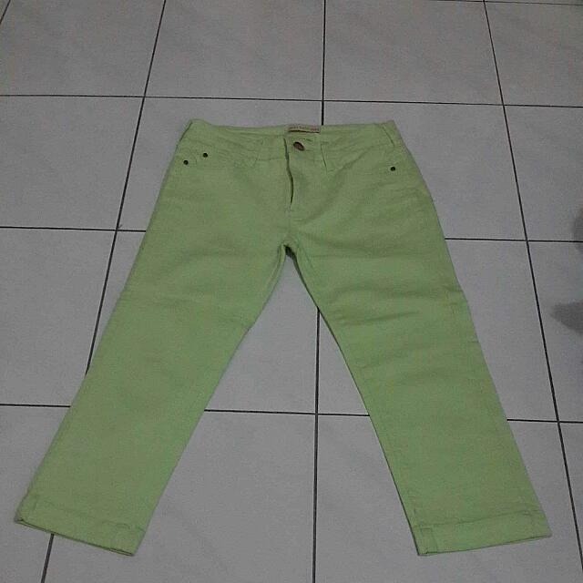 Light Green Crop Pant