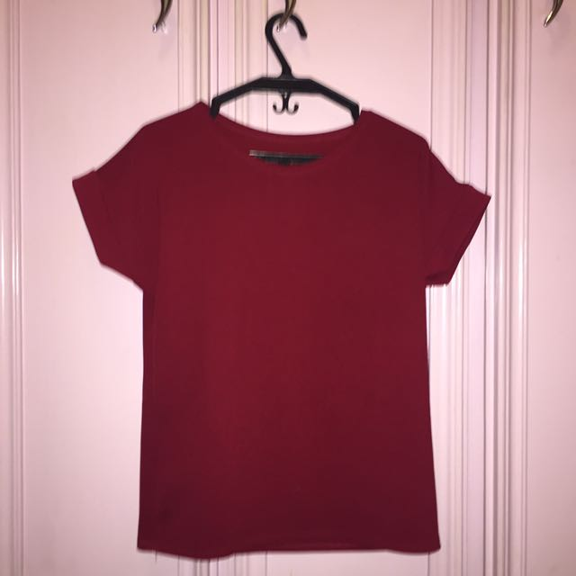 Maroon Textured Top