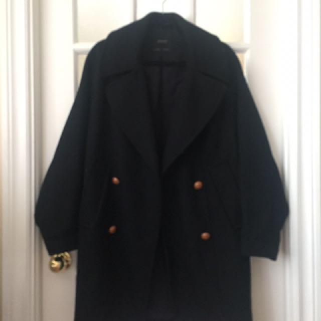 Zara Navy Coat (small)