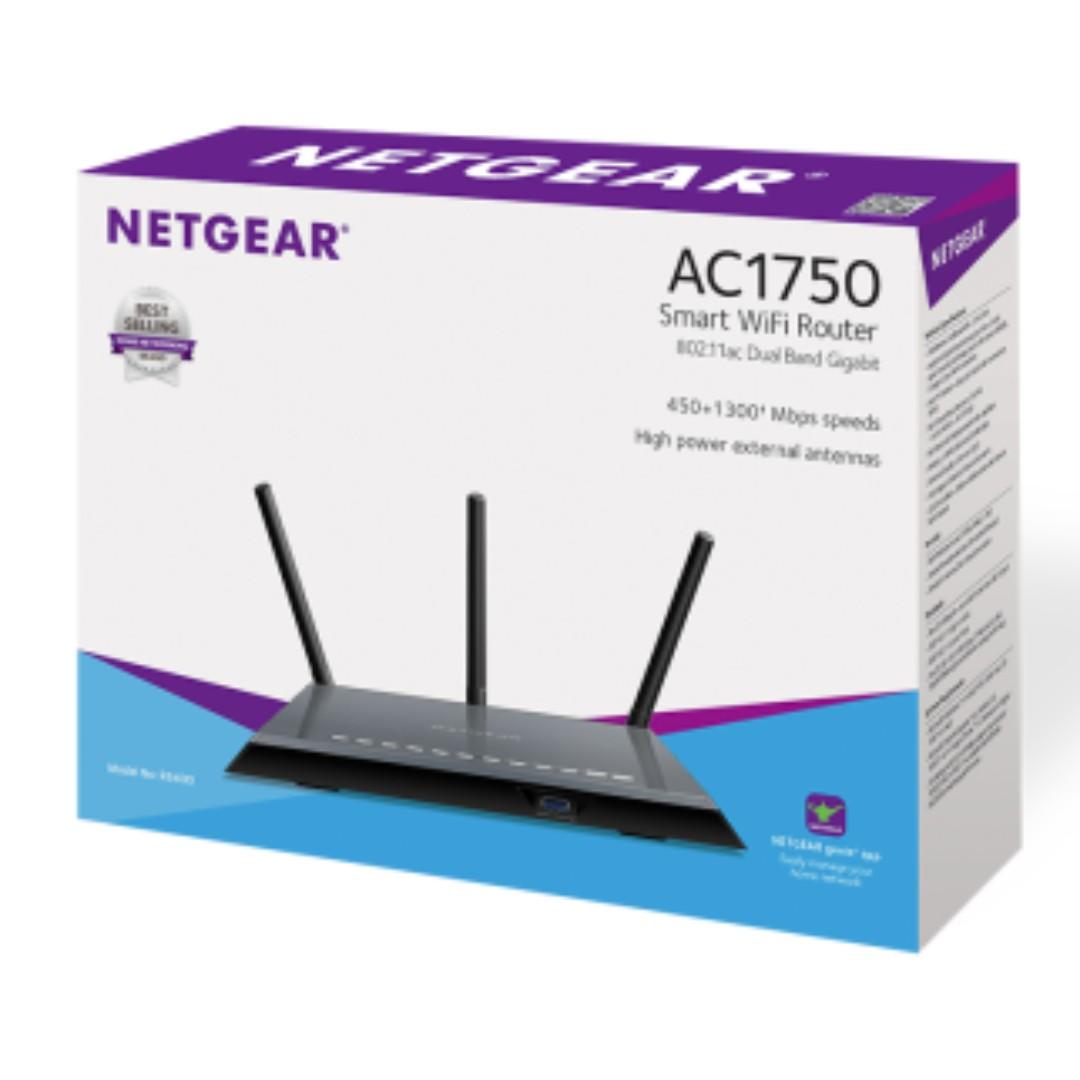 Netgear R6400 AC1750 Gigabit Router可刷asus-merlin ARM/256M RAM/128M ROM /  USB 3 0