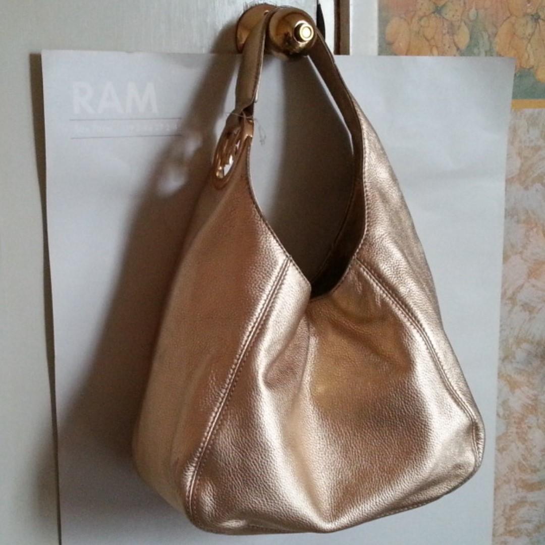 NEW Michael Kors Fulton Leather Hobo Shoulder Bag