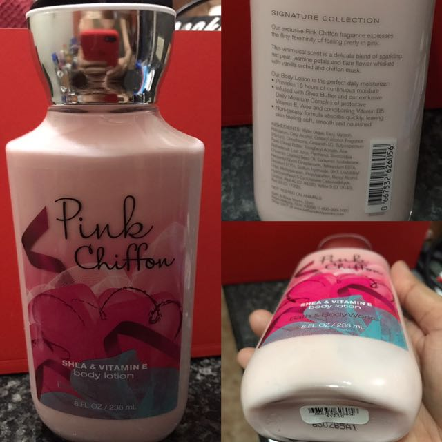 Pink Chiffon BATH & BODY WORKS Lotion