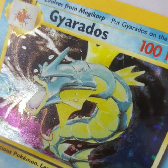 photograph relating to Printable Pokemon Trading Cards identified as Pokemon Investing Card Video game TCG - Gyarados 1st Model 2nd Printing