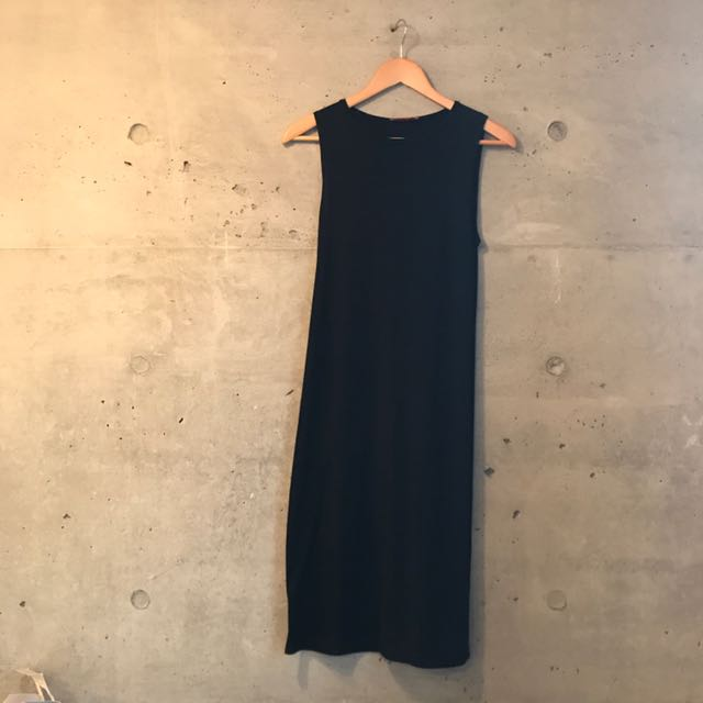 PRICE REDUCED Black Pencil Mid Length Dress