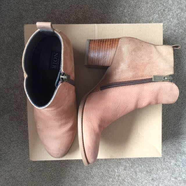 Pulp Noir Suede/Leather Boots