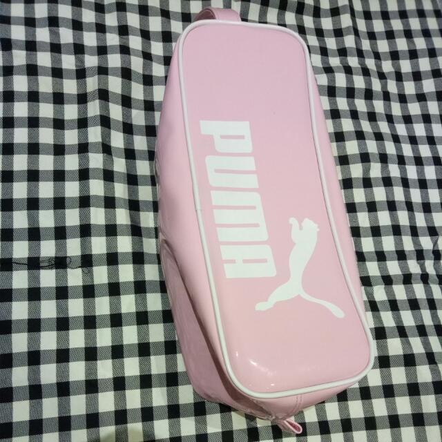 PUMA粉紅色手提包