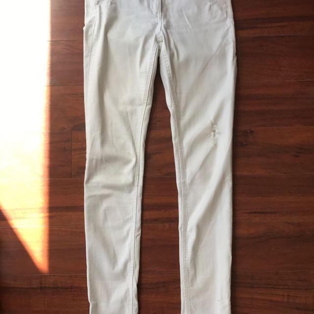 Rag & bone White Jeans Size 25