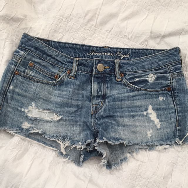 Ripped/distressed Denim Shorts
