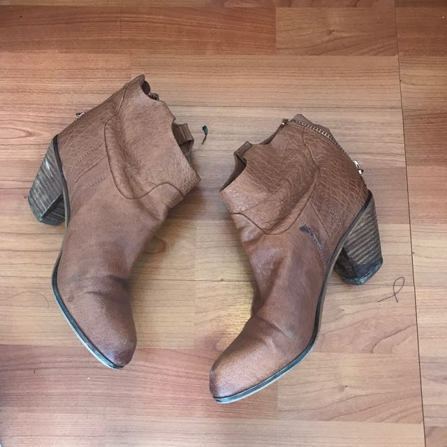 SAM EDELMAN LEATHER TAN BOOTS