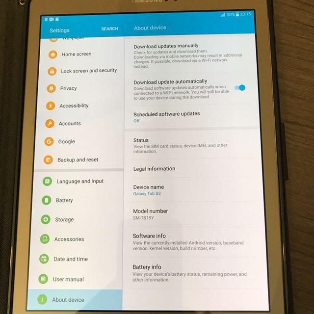 """Samsung Galaxy Tab S2 9.7"""" (SM-T819Y) GOLD 4G+ LTE"""