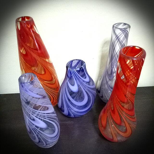 Set of 5 vases