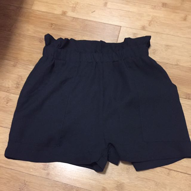 Simplee Apparel Elastic Black Shorts Size S