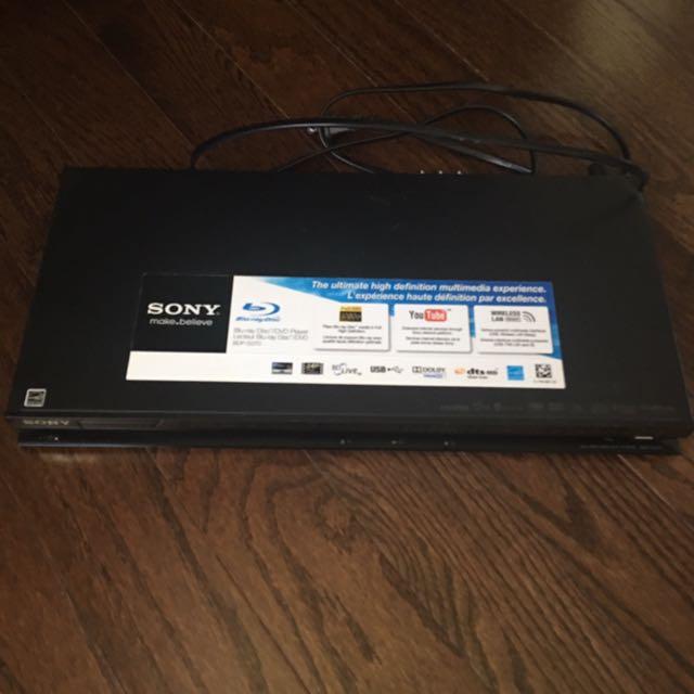 Sony Blue-ray CD/DVD Player