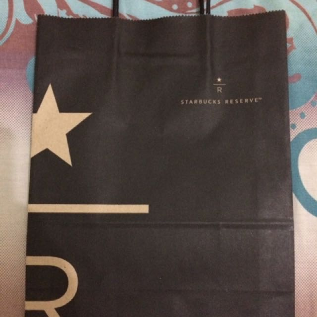 Starbucks Reserve Paper Bag - Black Colour (exclusive paper bag)