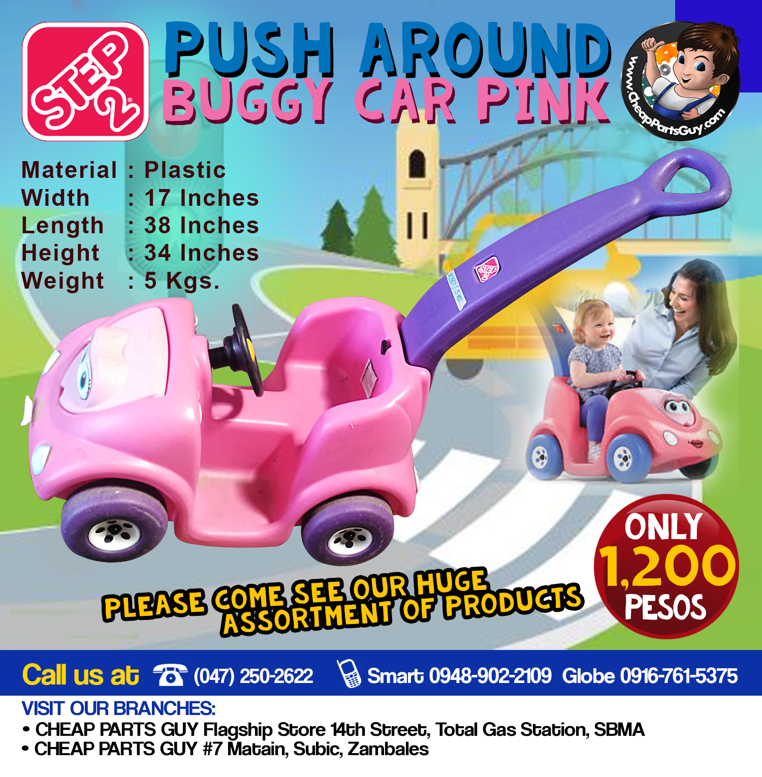 Step2 Push Around Buggy Car Pink Babies Kids Strollers Bags Carriers On Carou