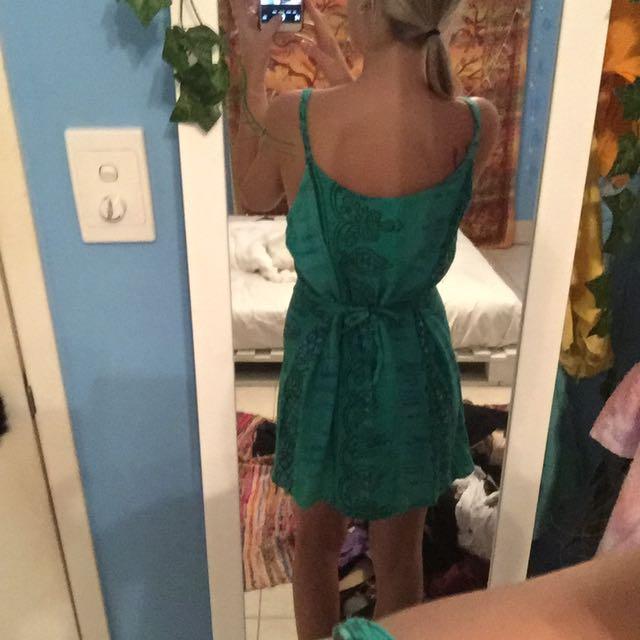 Tie Up Back Dress