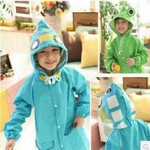 Toddler Kids Cute Cartoon Hooded Raincoat