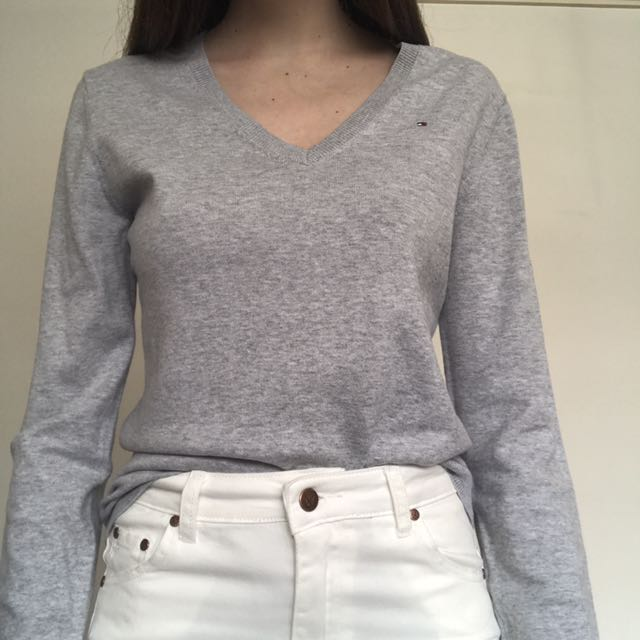 tommy hilfiger v neck jumper
