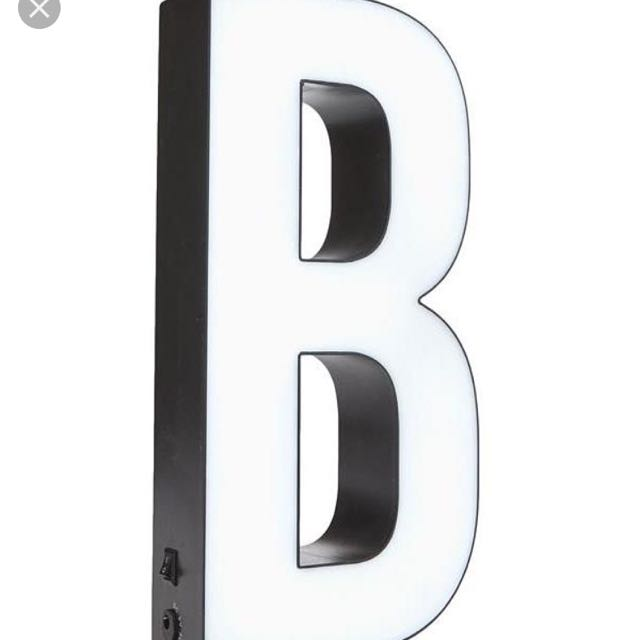 Typo Light Up Block Letter B Battery Operated Alphabet Marquee