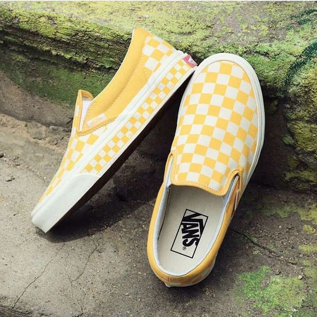 03757691b05 Vans Slip On Checkerboard - Yellow