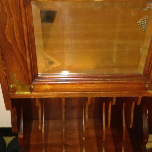 Vintage record shelf