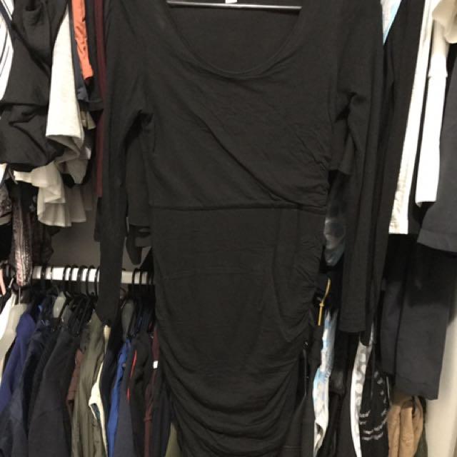 Witchery long black dress