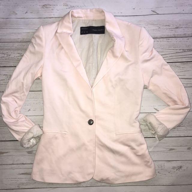 Women's Pastel Pink Blazer Sz Small