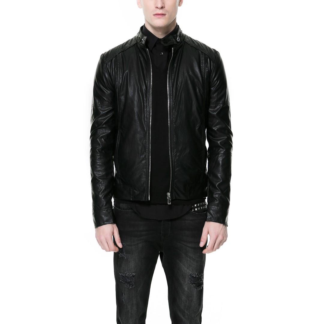 ZARA - Black Leather Jacket - 100% ORIGINAL