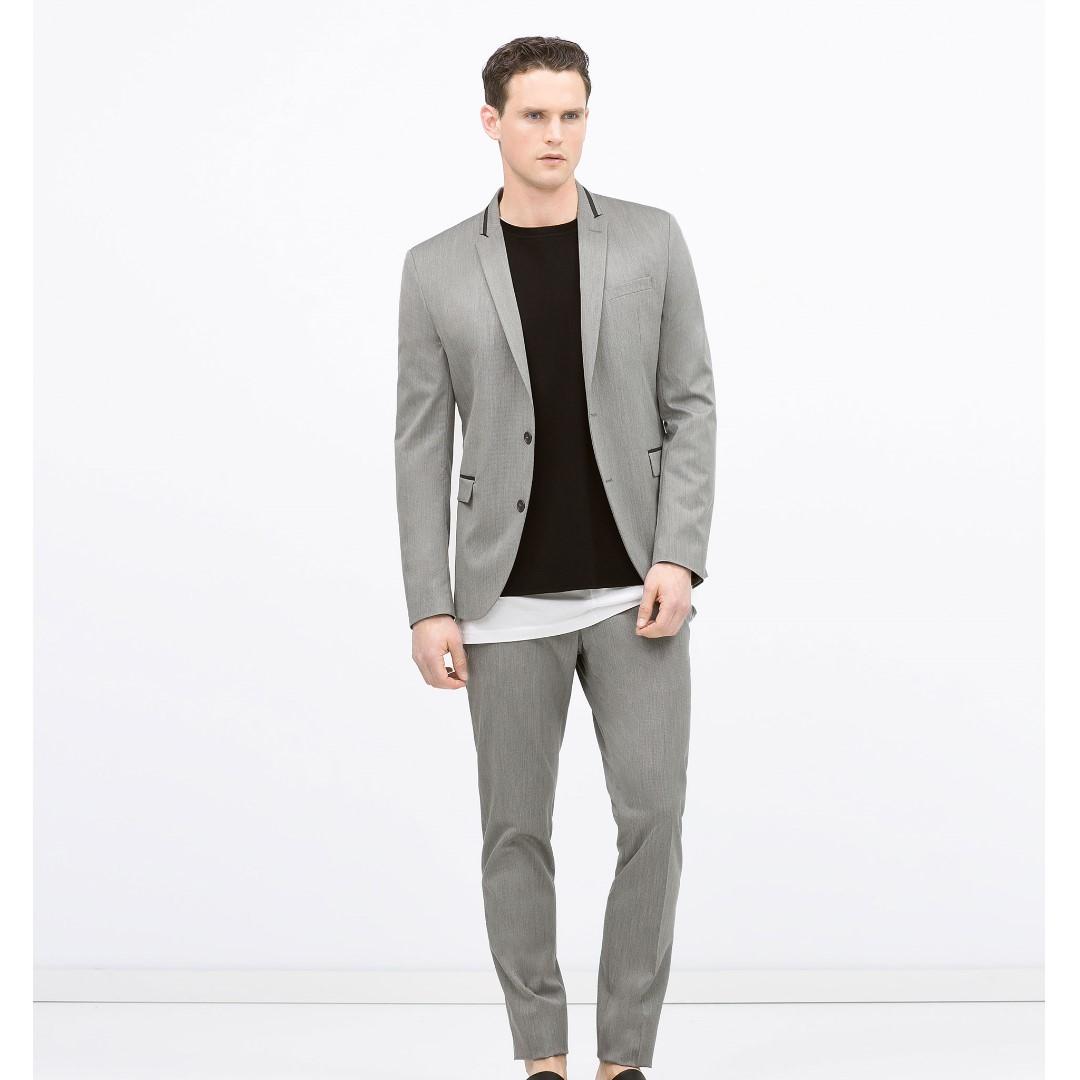ZARA - Grey Formal Pants - 100% ORIGINAL