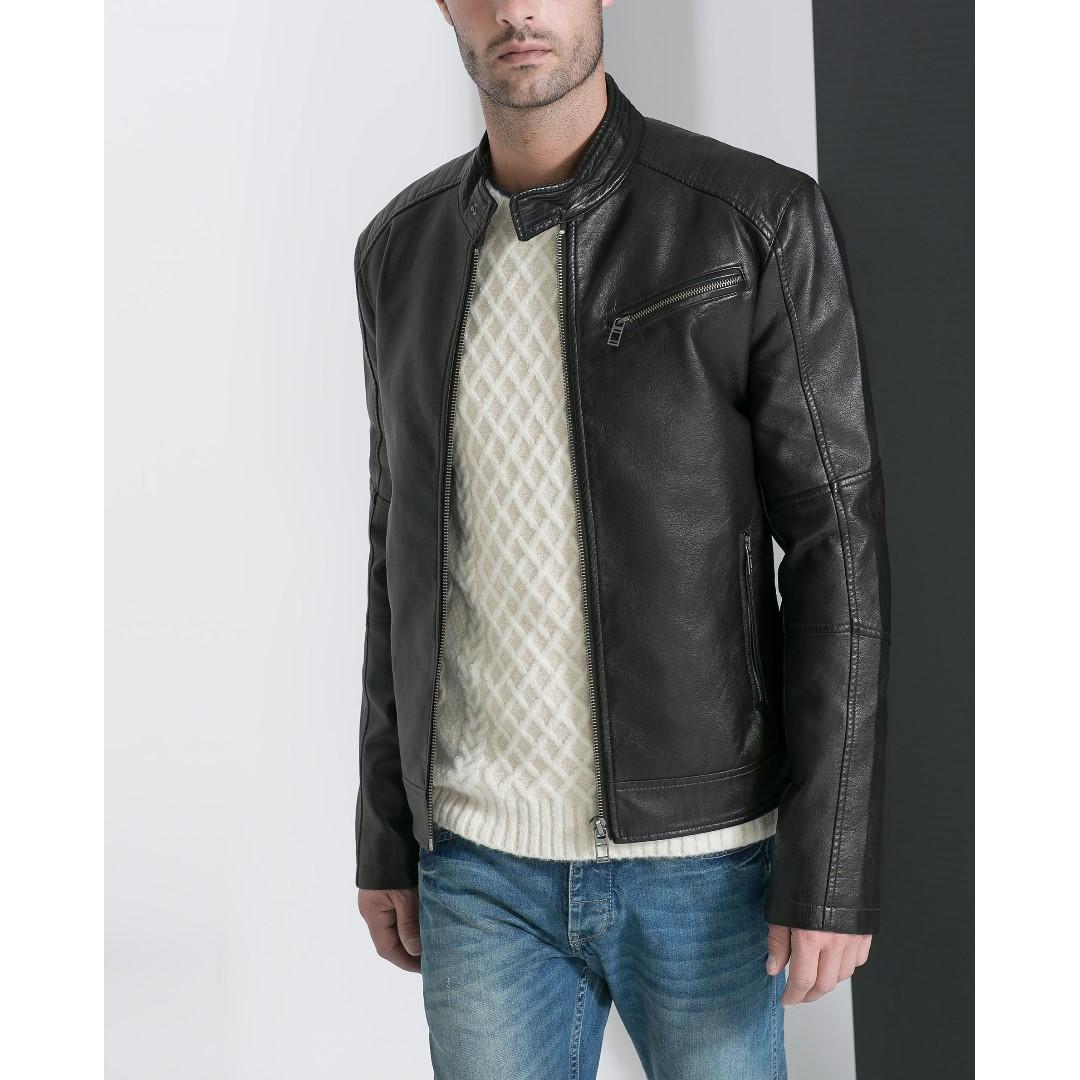 ZARA - Leather Jacket Dark Brown - 100% ORIGINAL