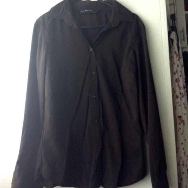 Zara Basics Black Polo