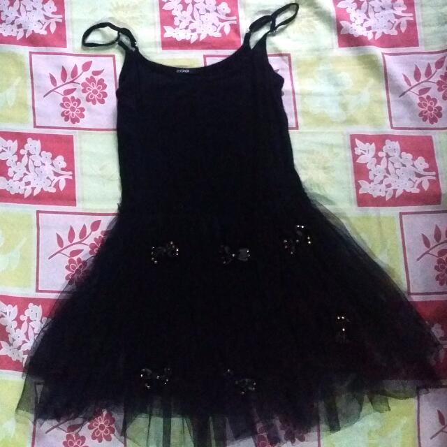 Zoo (zooph) Black Tulle Skirt Dress